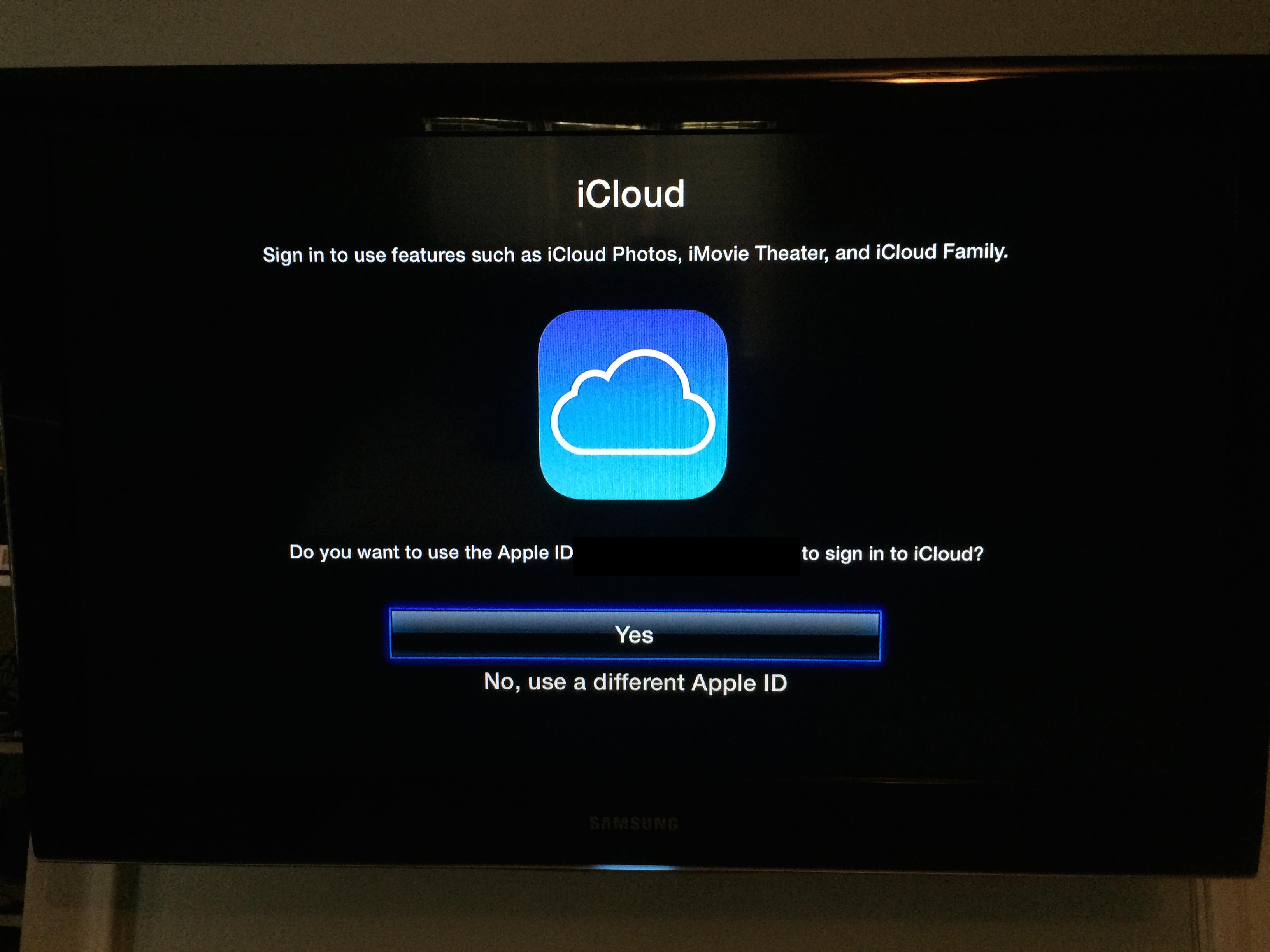 iCloud Family Sharing no Apple TV 7 beta