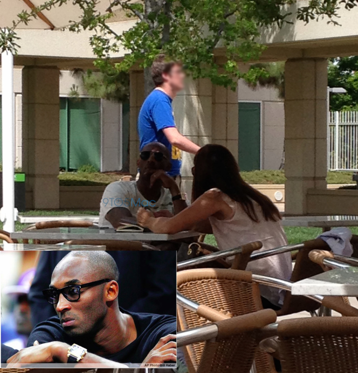 Kobe Bryant no campus da Apple
