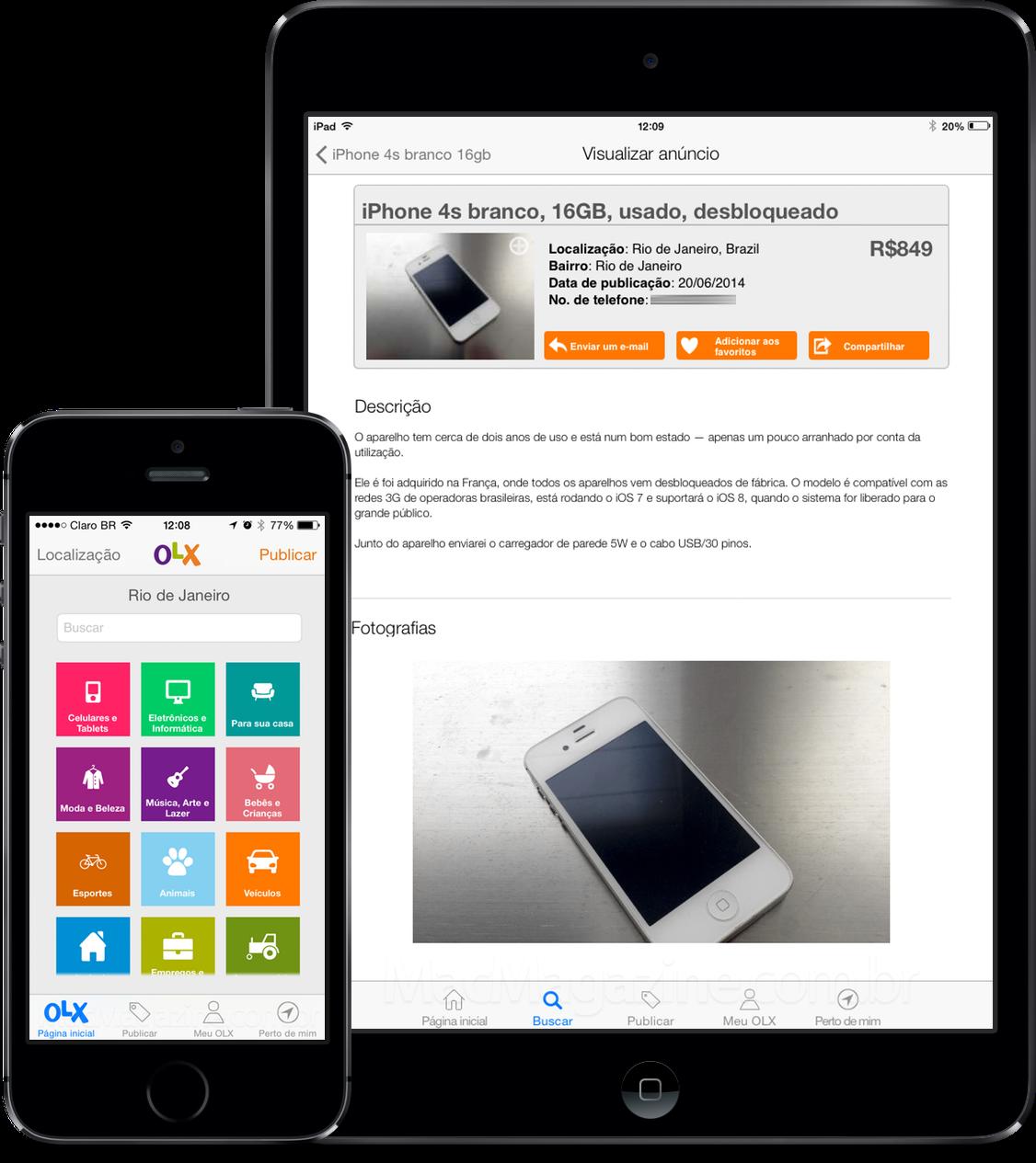 App OLX Classificados Grátis para iOS