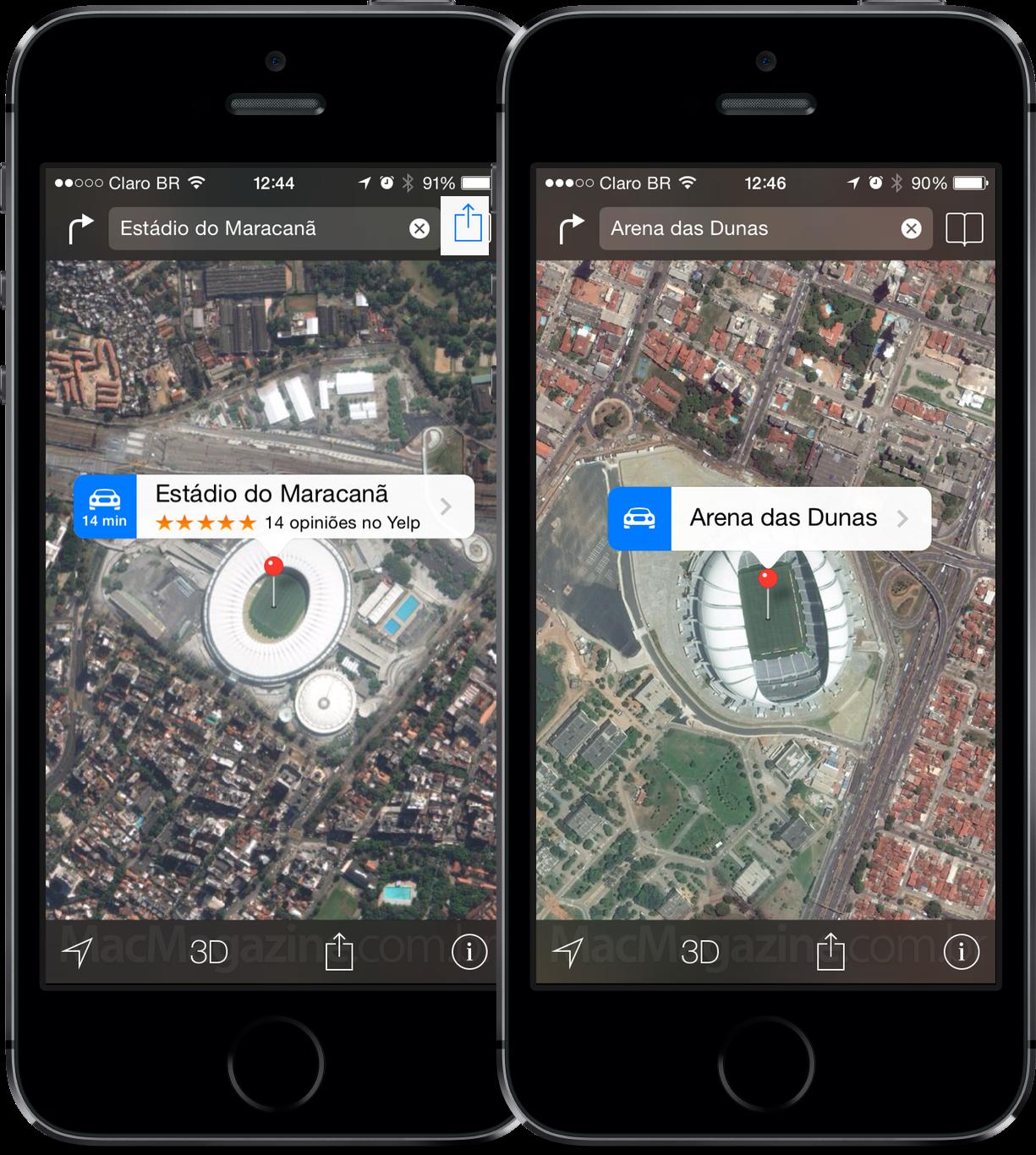 Arenas da Copa - Mapas da Apple