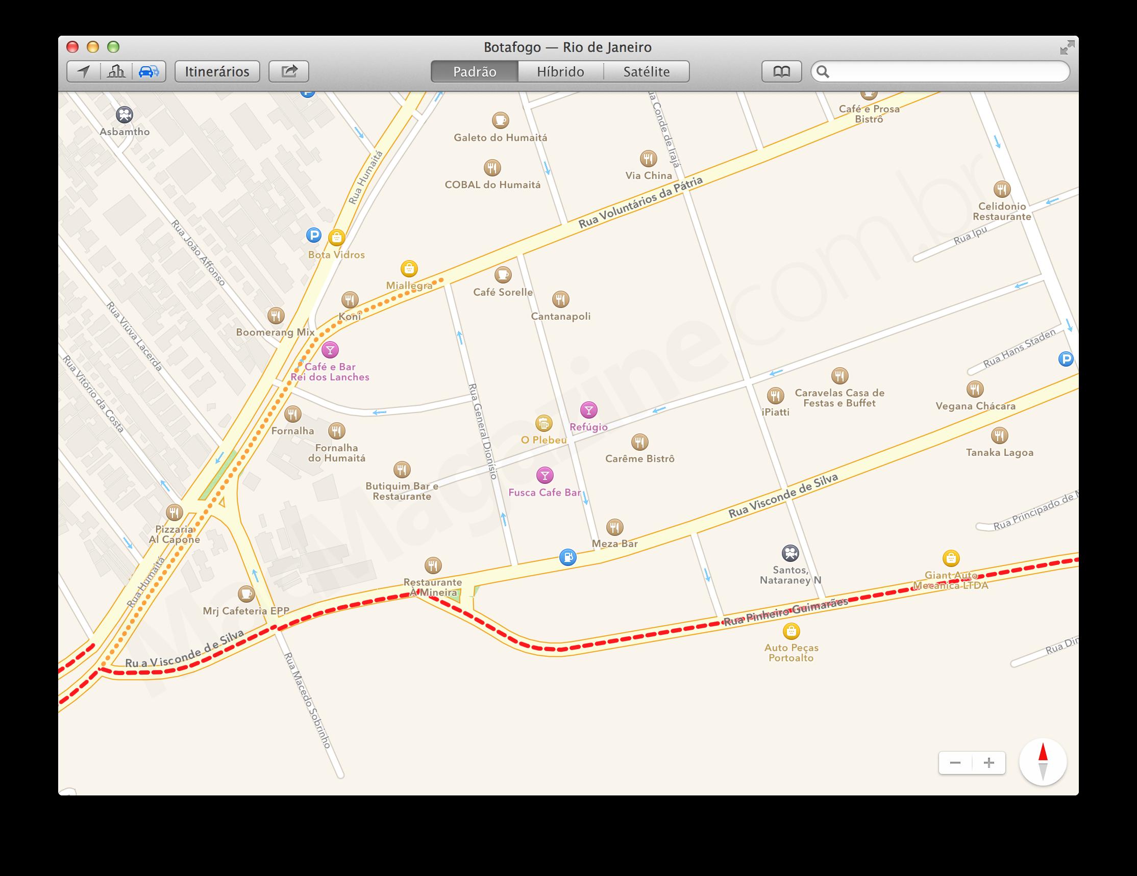 Tráfego - Mapas da Apple no OS X