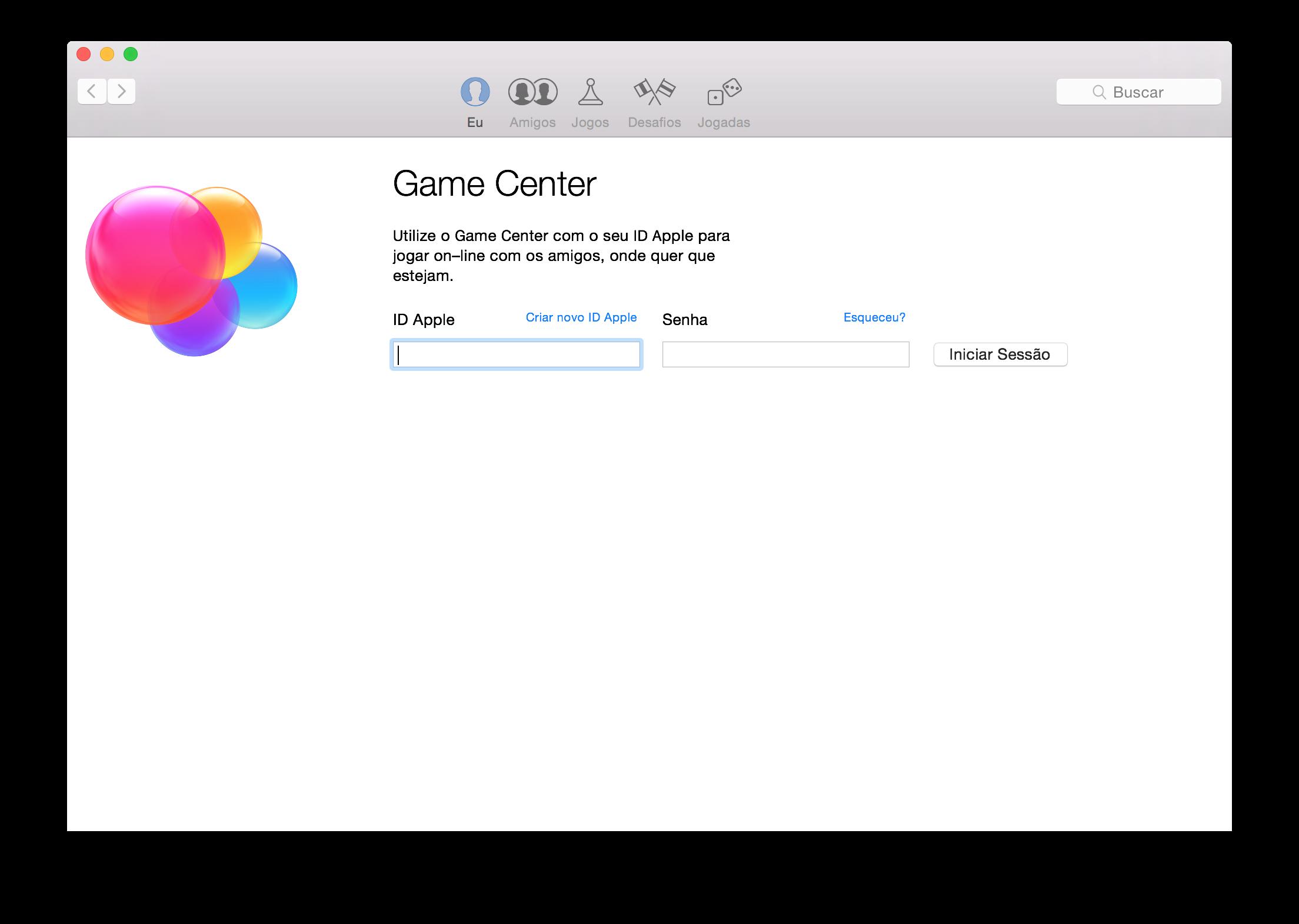 Game Center no OS X Yosemite