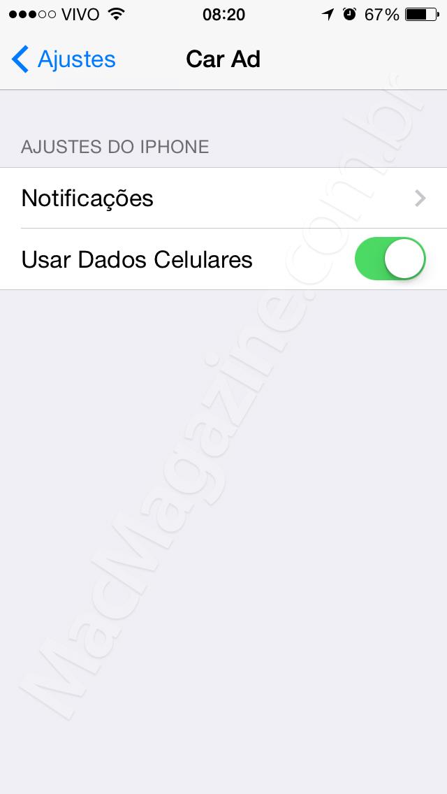 Screenshot do iOS 8