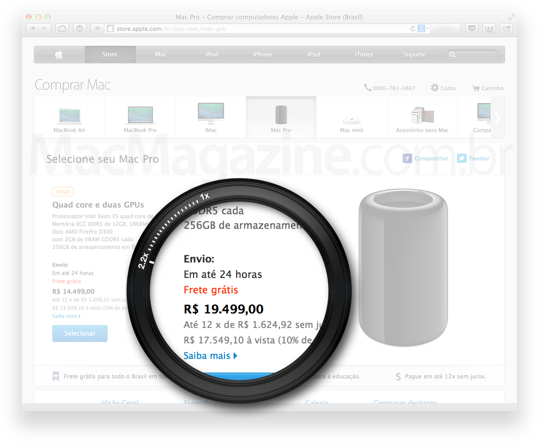 Mac Pro em até 24h