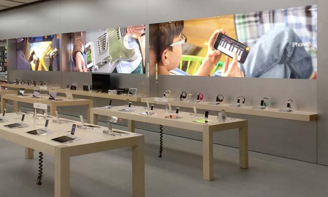 Novos painéis em Apple Retail Stores