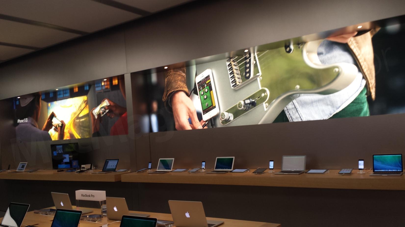 Novos painéis na Apple Store, VillageMall