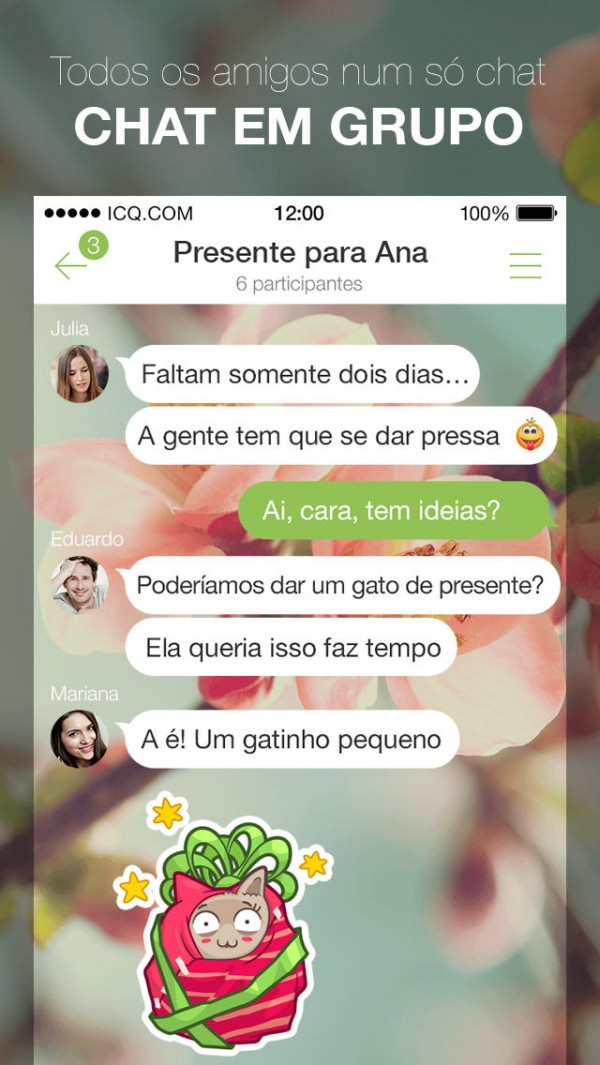 App ICQ para IOS