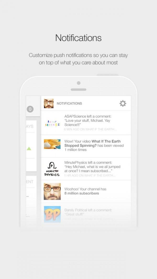 App YouTube Creator Studio para iPhones/iPods touch