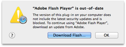 Apple bloqueando o Flash Player
