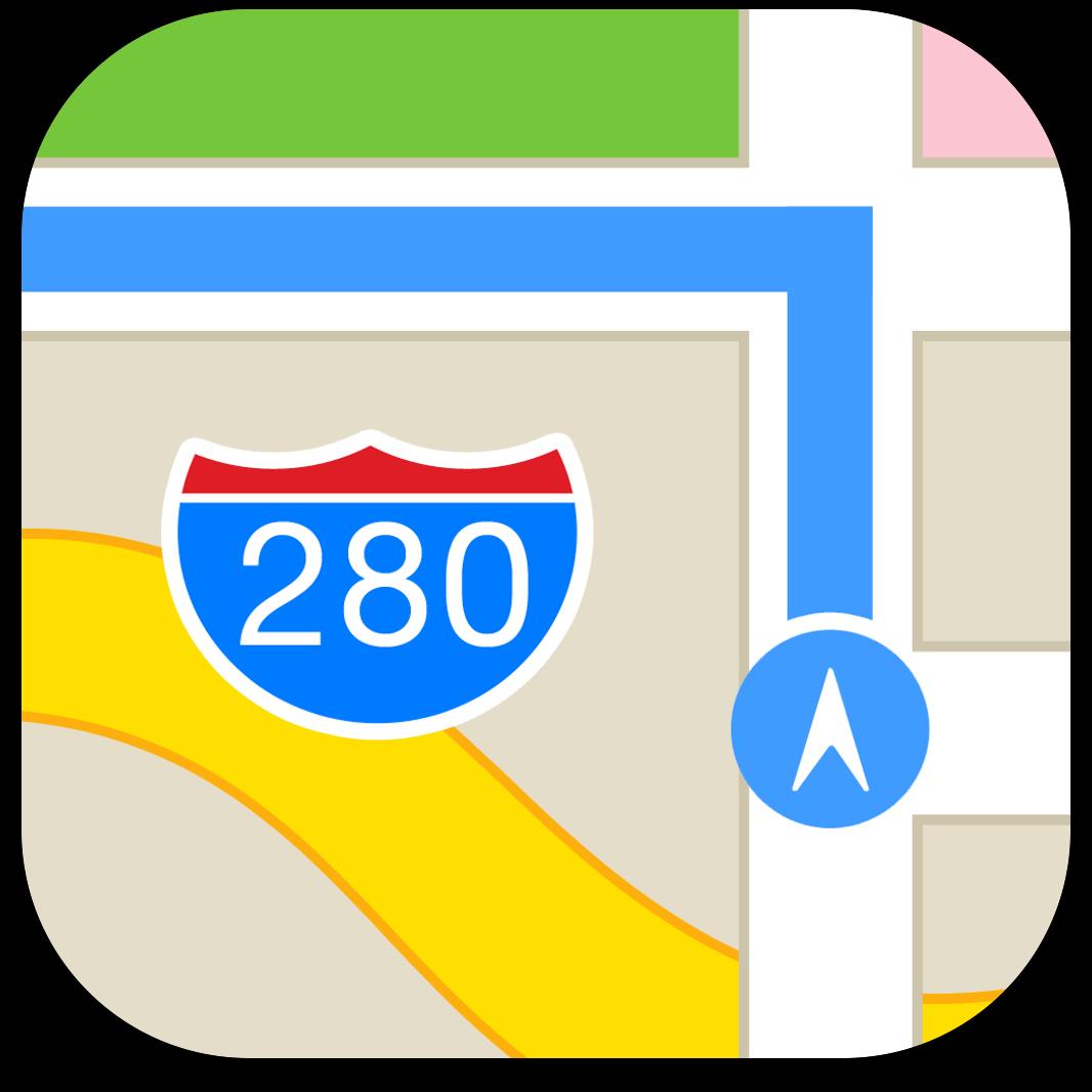 Ícone do Mapas do iOS