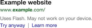 Site com Flash nas buscas do Google