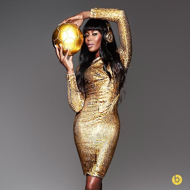 Naomi Campbell em campanha da Beats