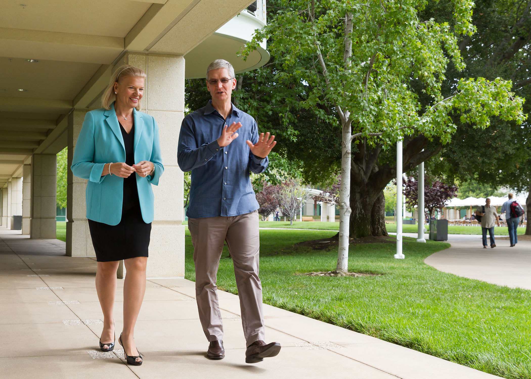 Ginni Rometty e Tim Cook