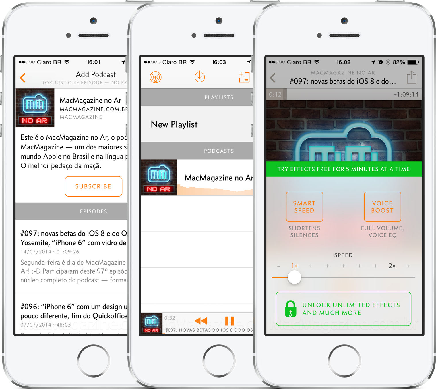 App Overcast para iPhones/iPods touch
