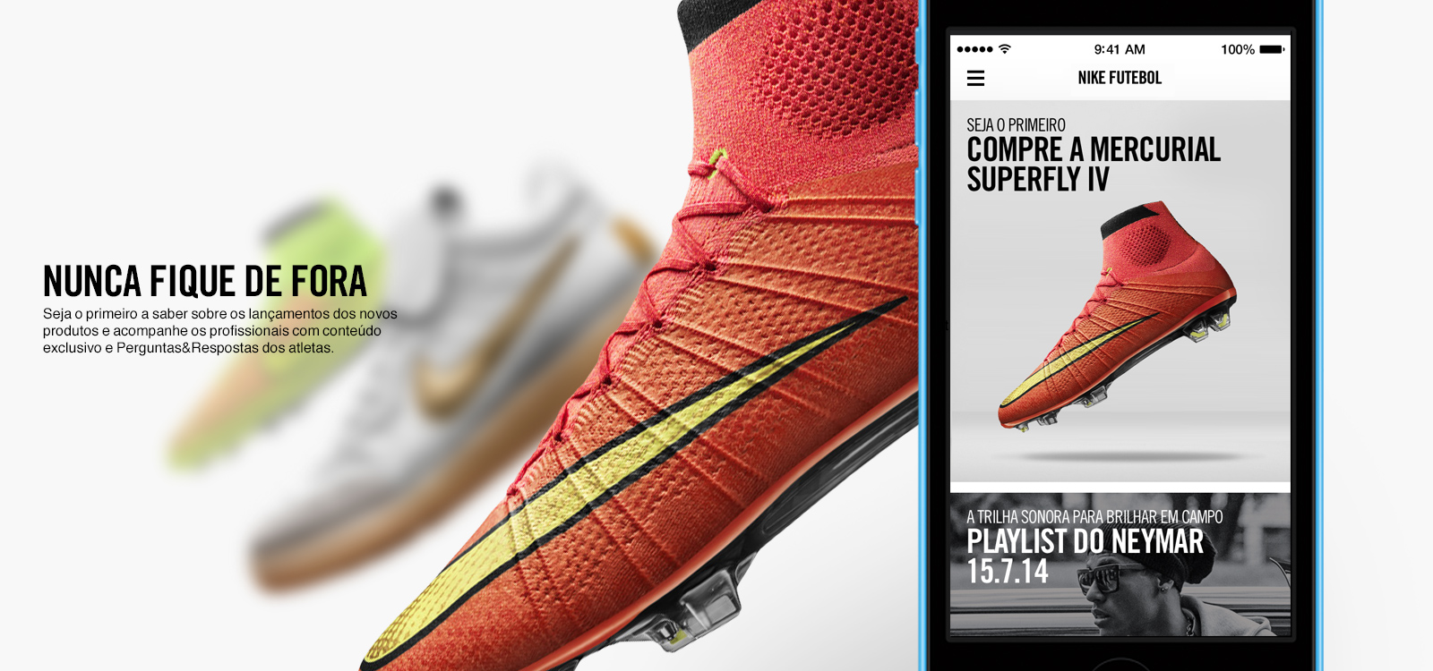 App Nike Futebol para iPhones/iPods touch