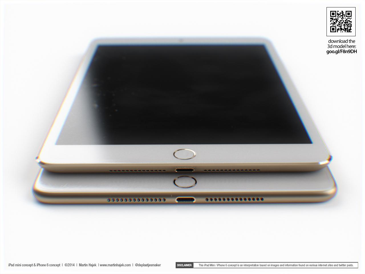 Conceito de iPad mini (por Marin Hajek)