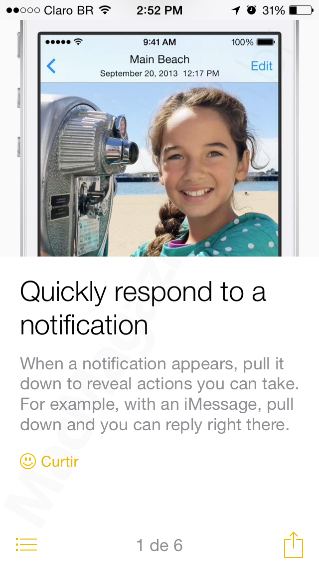 App Tips, do iOS 8