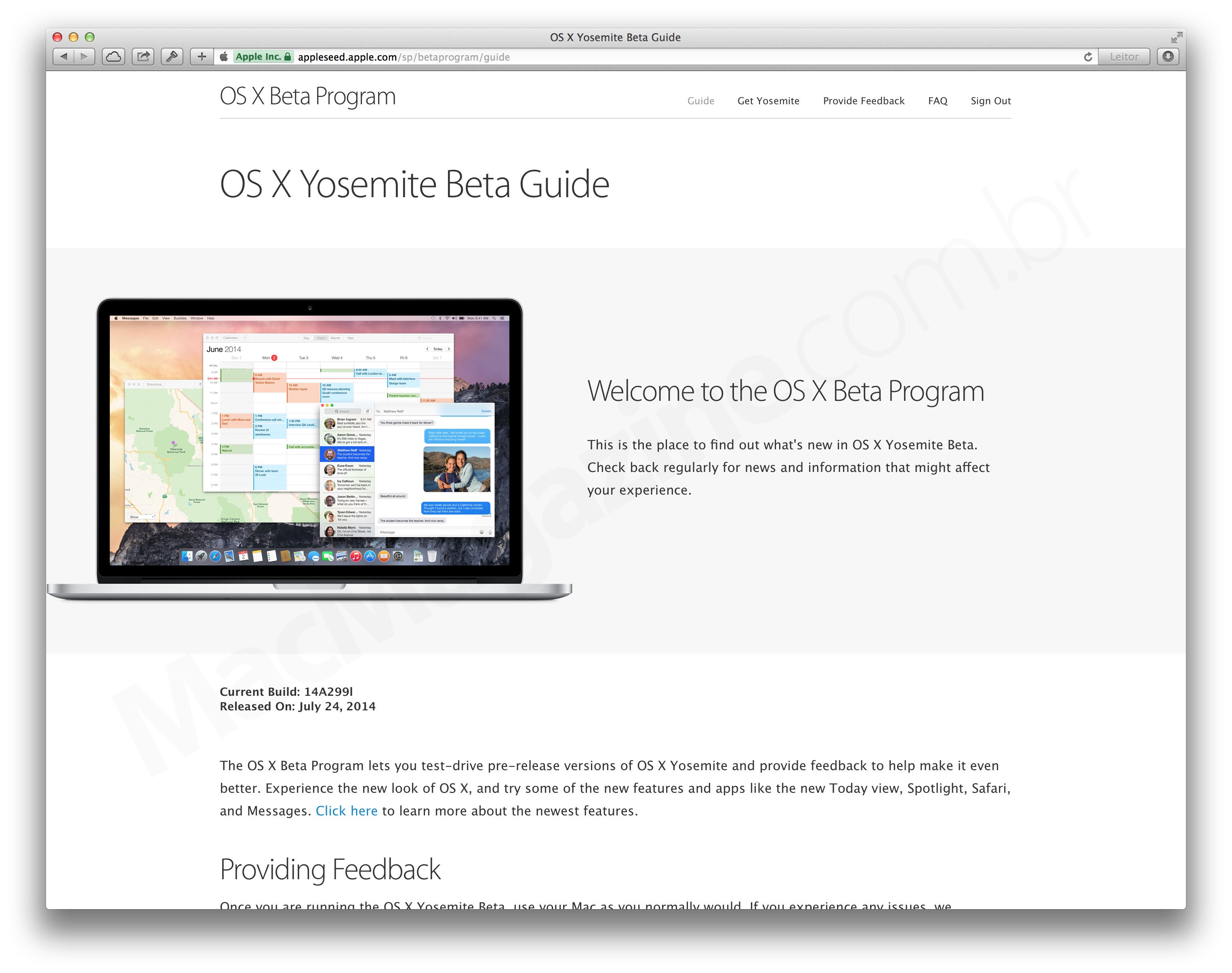Versão beta pública do OS X Yosemite