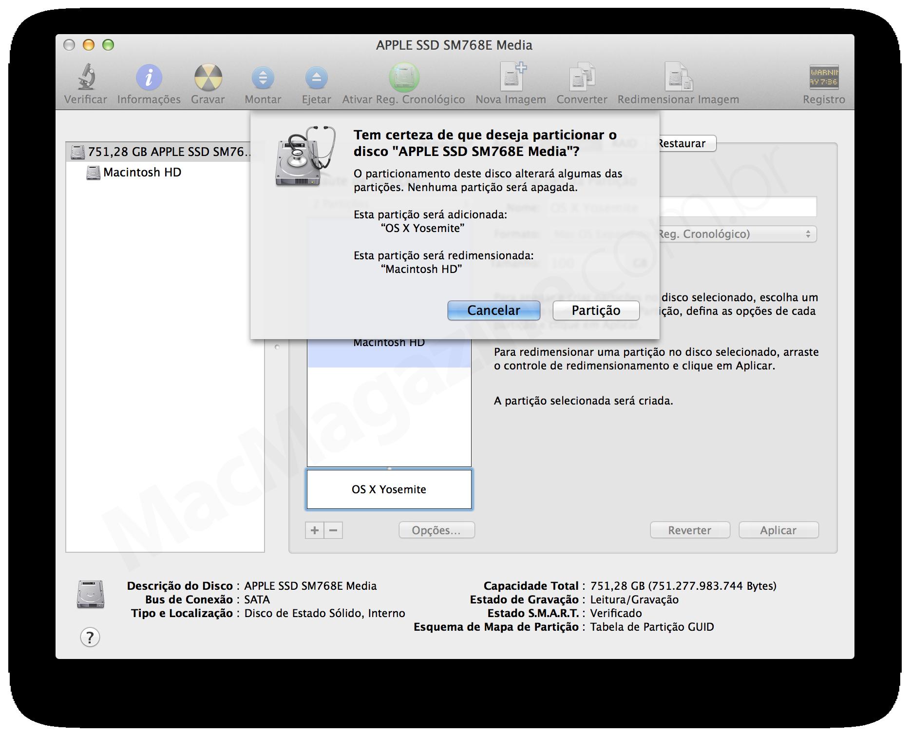 Tutorial: criando uma partição para testar o OS X Yosemite