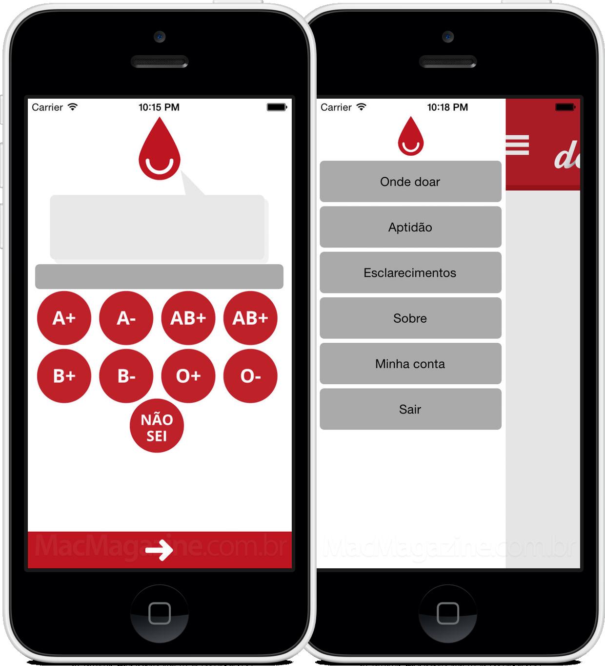 App Doe Sangue Mobile para iPhones/iPods touch