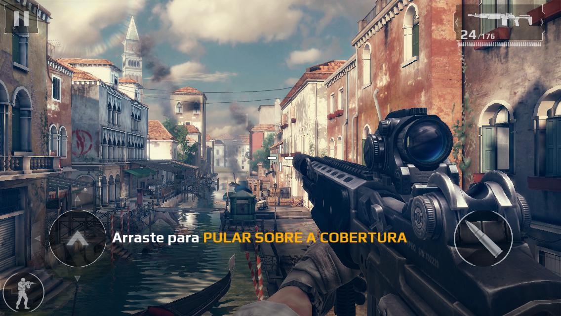 Jogo Modern Combat 5: Blackout para iOS