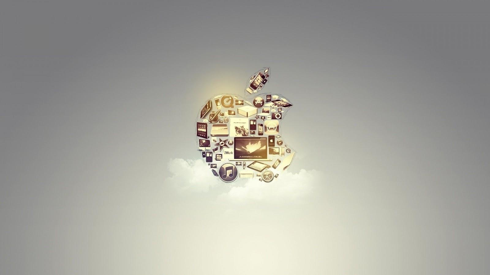 Logo da Apple na nuvem