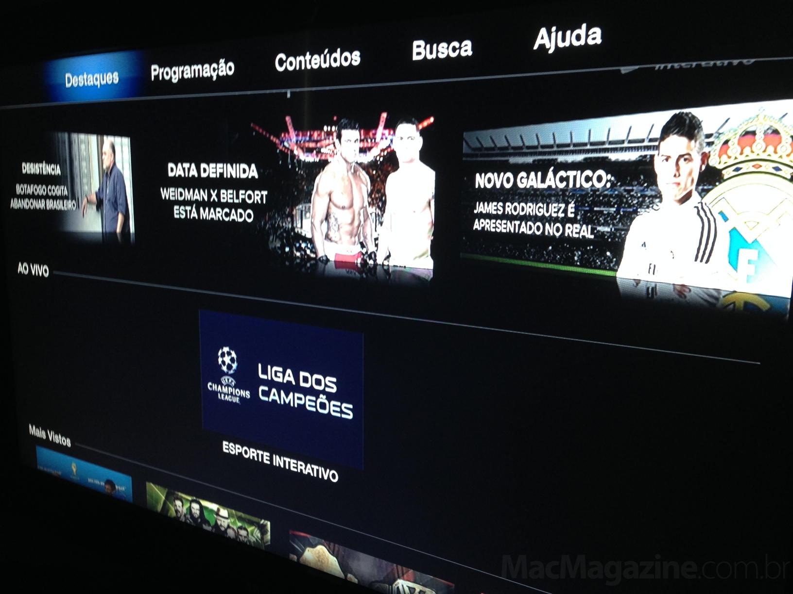 Esporte Interativo em Apple TVs
