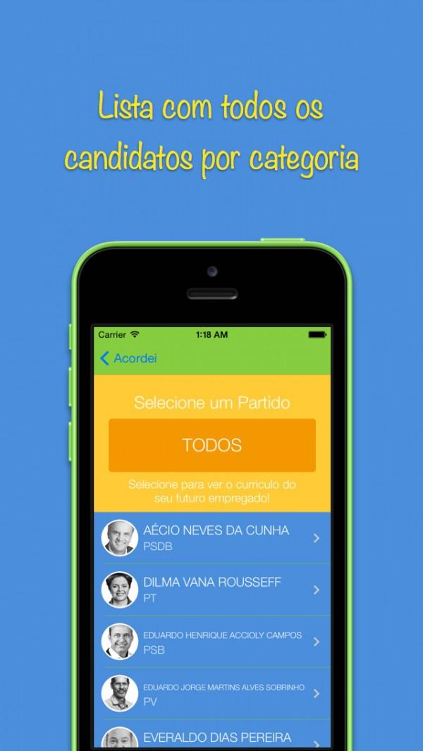 App Acordei para iPhones/iPods touch