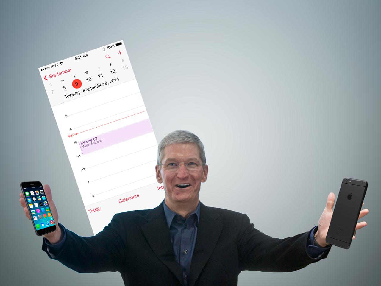 """Montagem de Tim Cook para o lançamento do """"iPhone 6"""""""