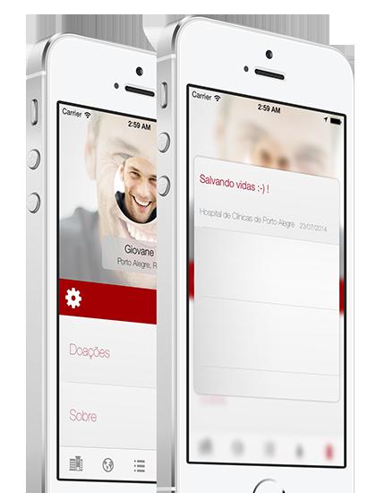 App DoaSangue para iPhones/iPods touch