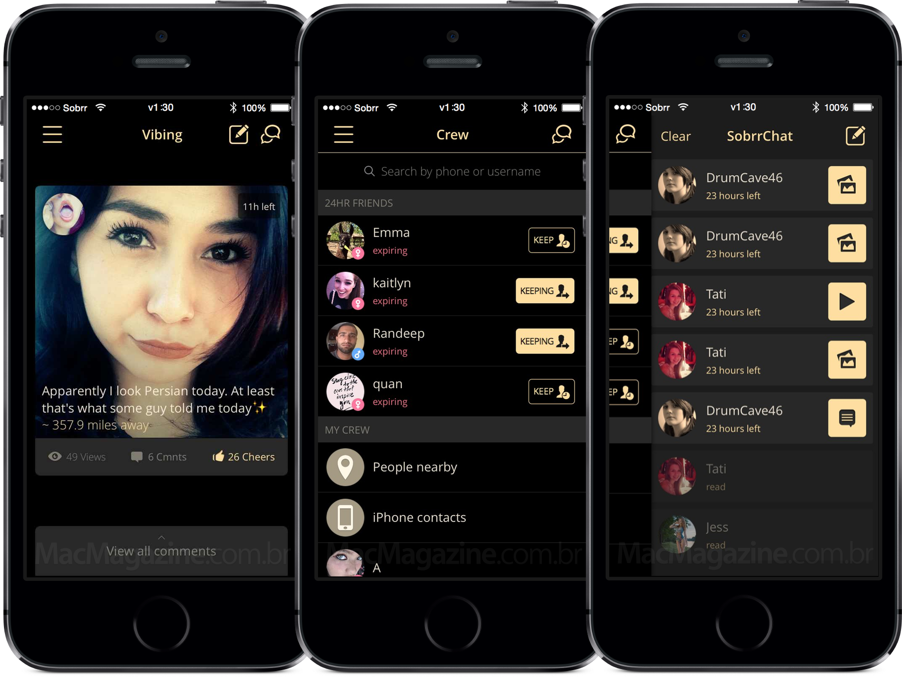 App Sobrr para iPhones/iPods touch