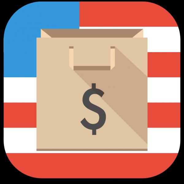 Ícone do app Compras EUA para iPhones/iPods touch