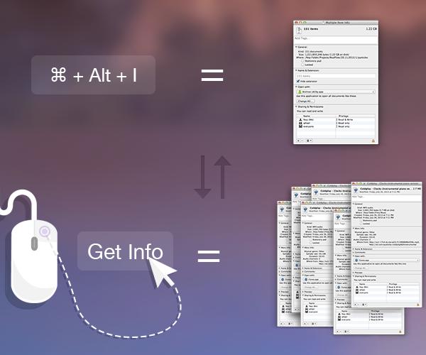 """Conceito - Janela """"Obter Informações"""" do OS X"""