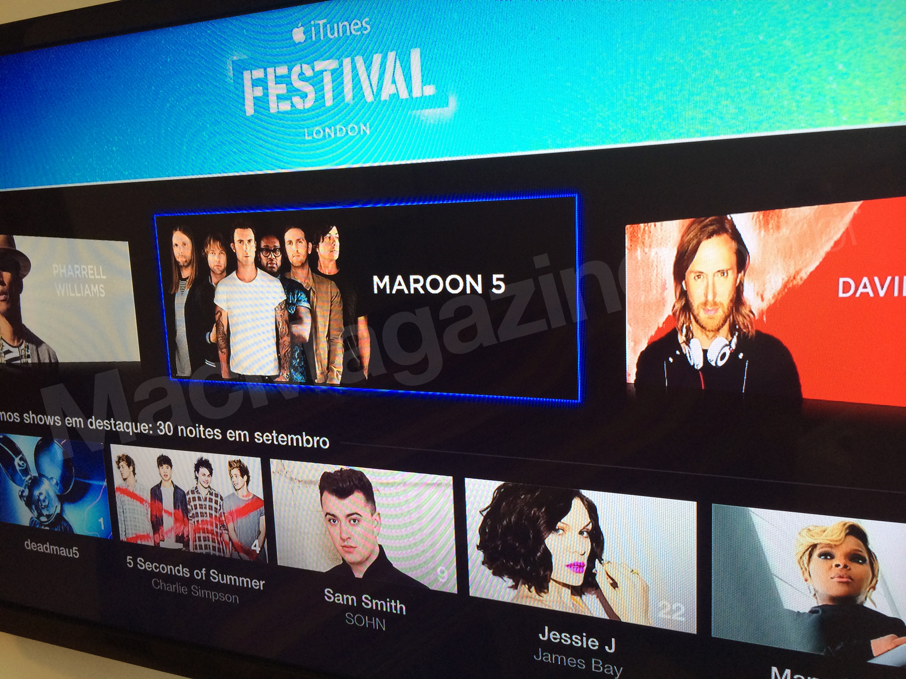 iTunes Festival 2014 na Apple TV