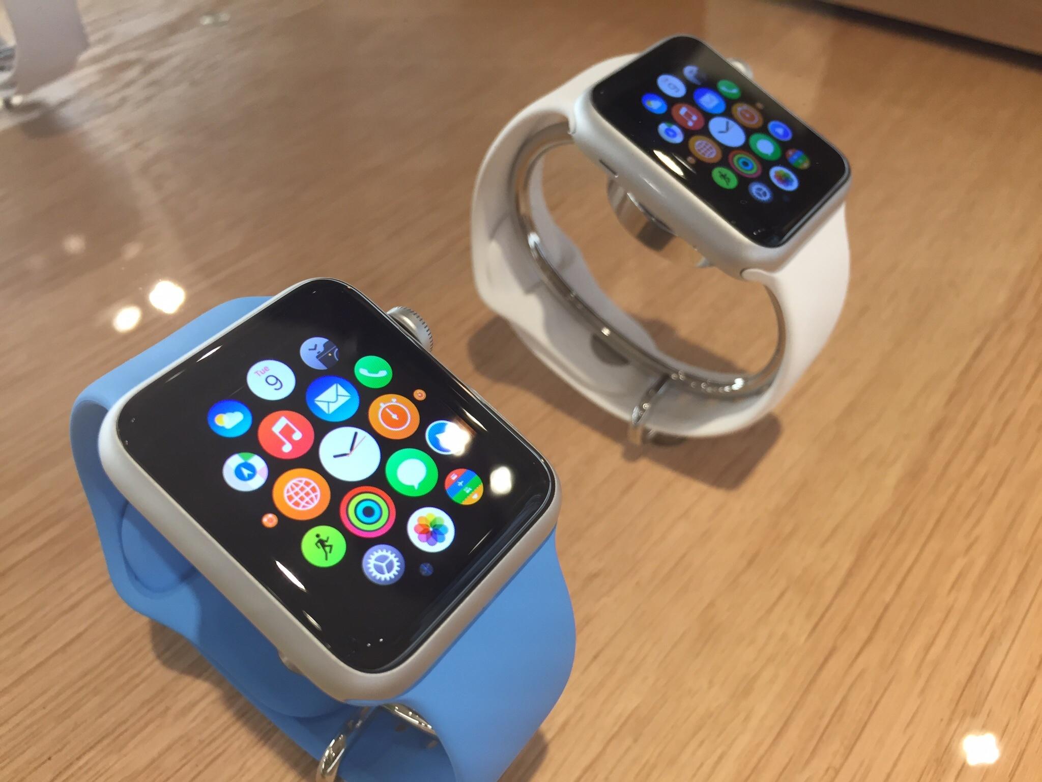 Apple Watch exposto na Colette