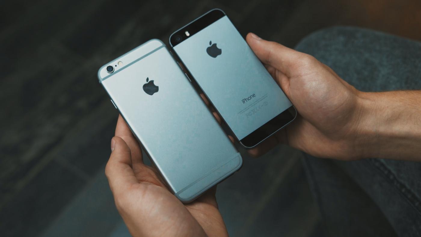 "Suposto ""iPhone 6"" montado"