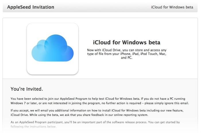 iCloud para Windows beta