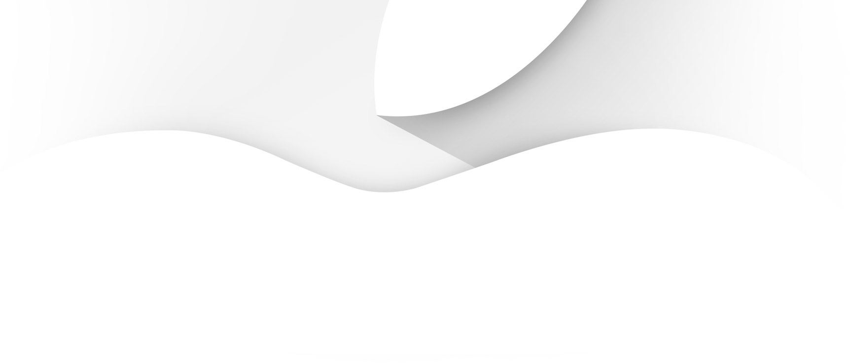 Maçã (logo Apple) cortado no convite do evento para o iPhone 6