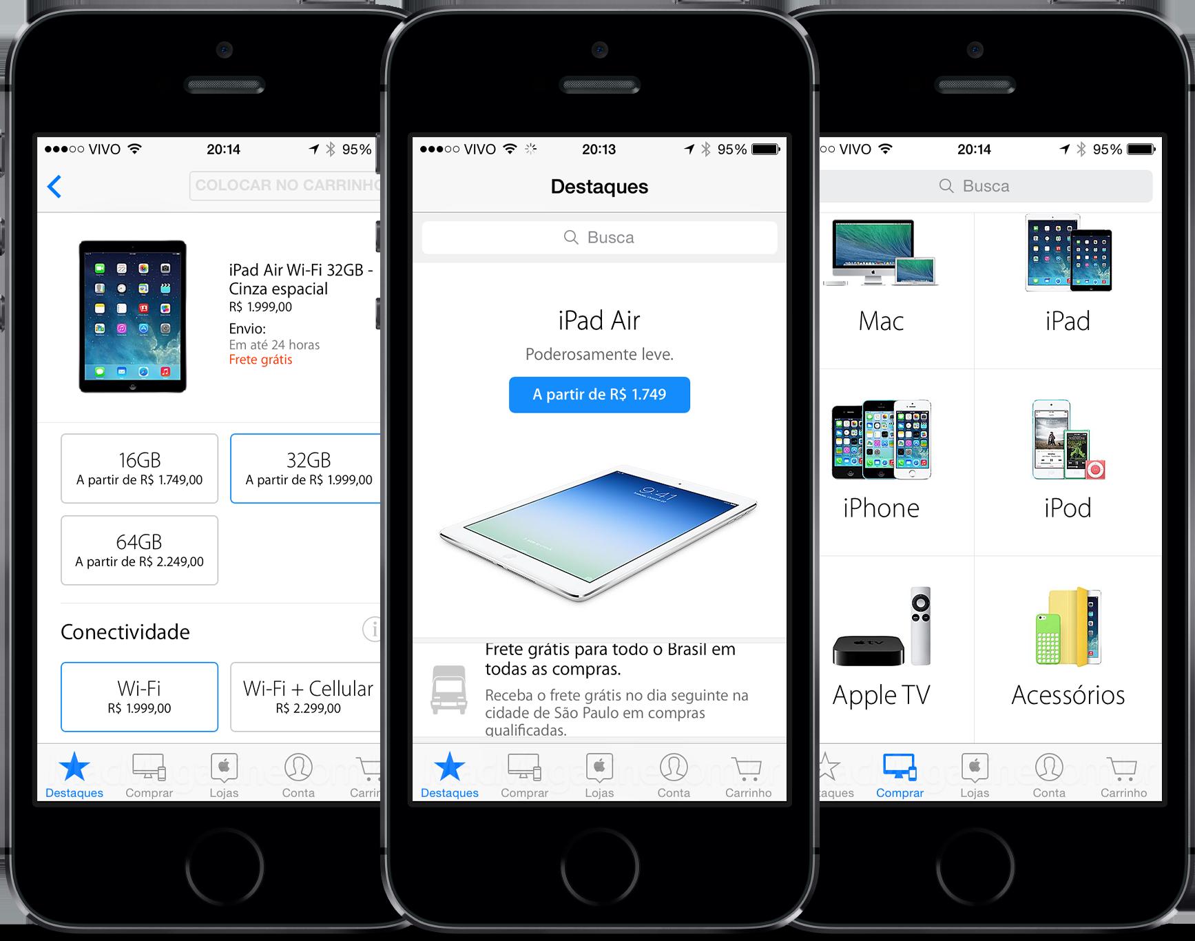 App Apple Store funcionando no Brasil