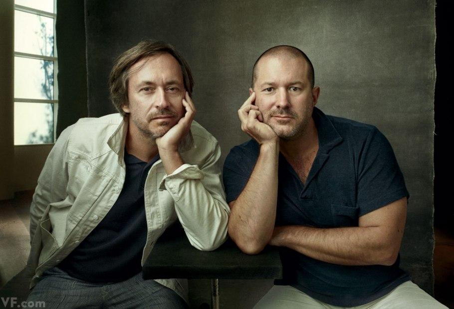 Designers Marc Newson e Jony Ive