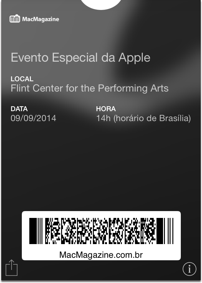Passbook - evento especial da Apple