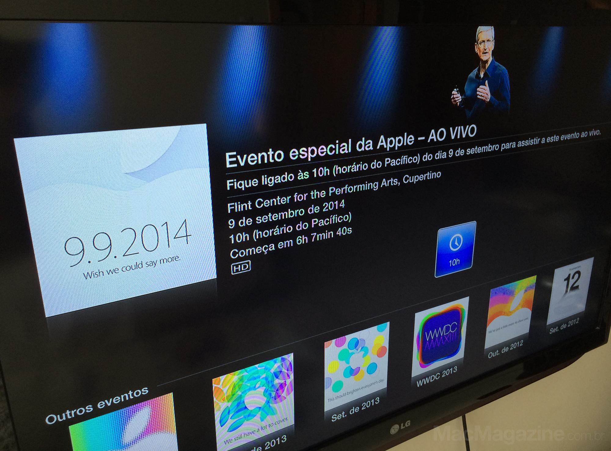 Evento na Apple TV