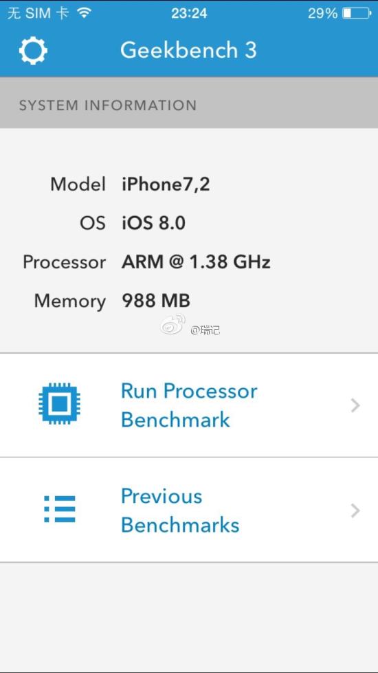 Geekbench do iPhone 6?
