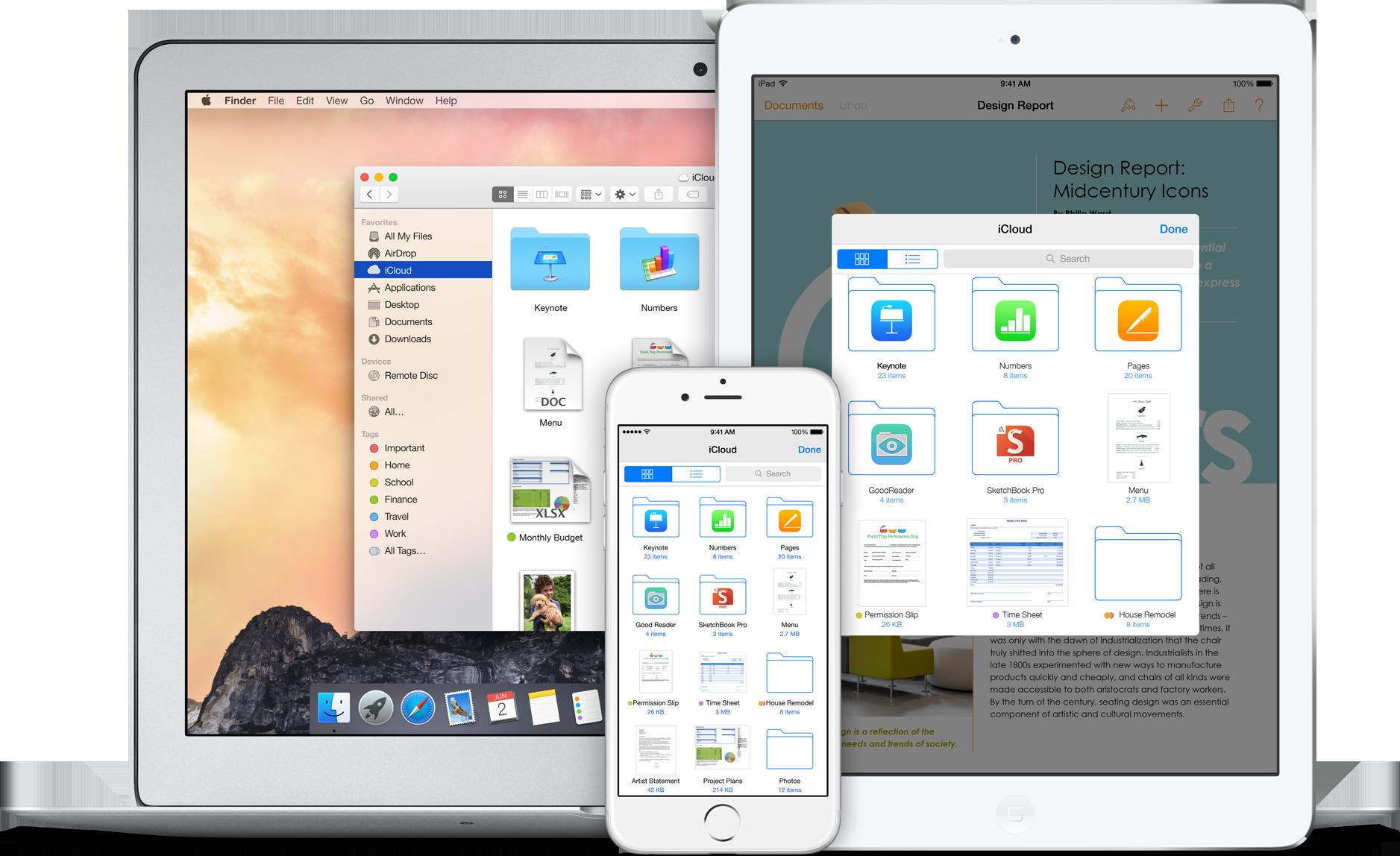 iCloud Drive em Mac, iPad e iPhone