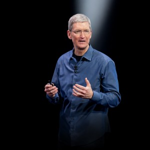 Tim Cook em keynote da Apple
