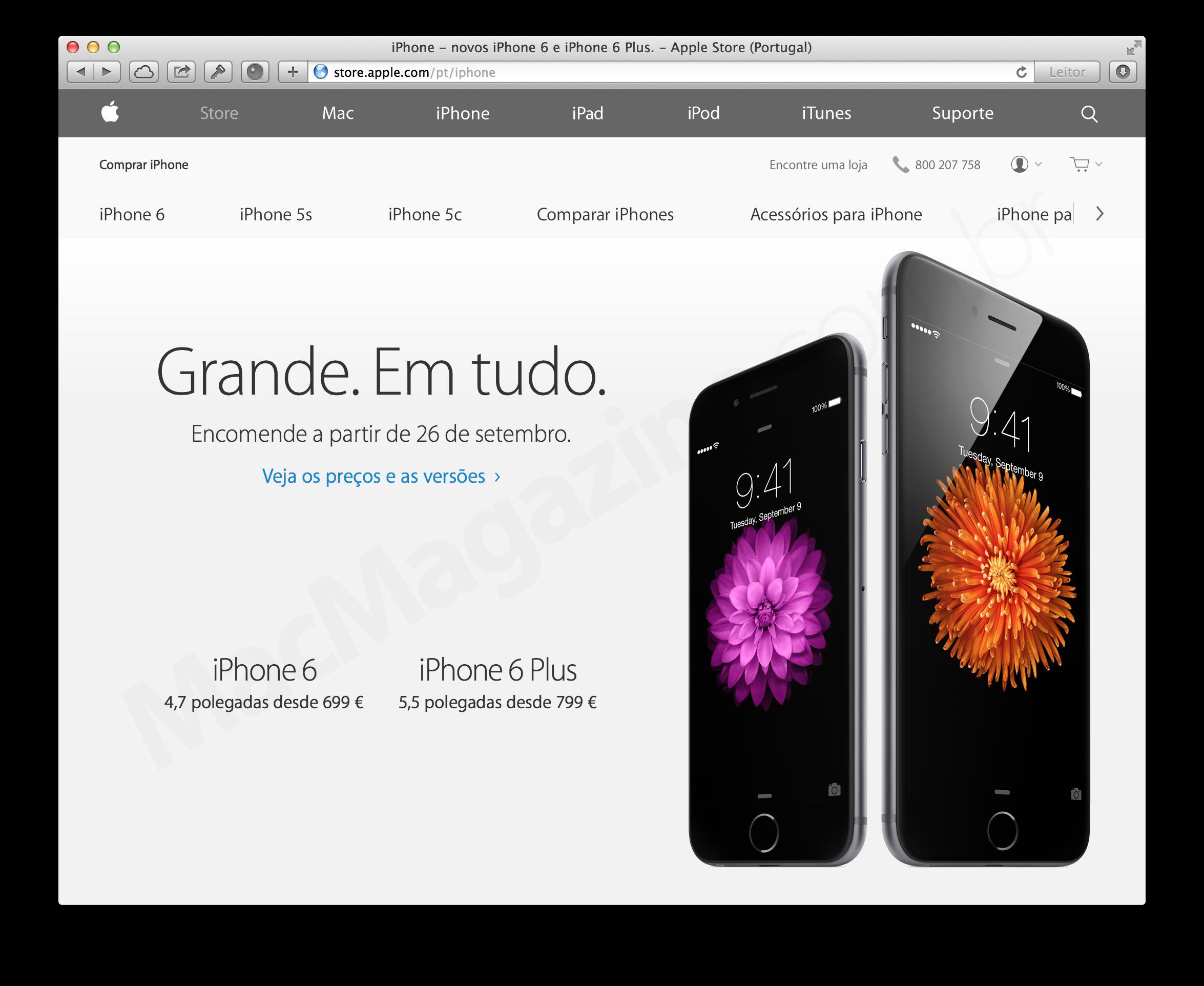 Apple Online Store portuguesa