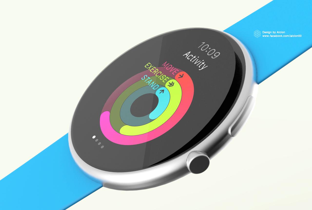 Conceito redondo do Apple Watch