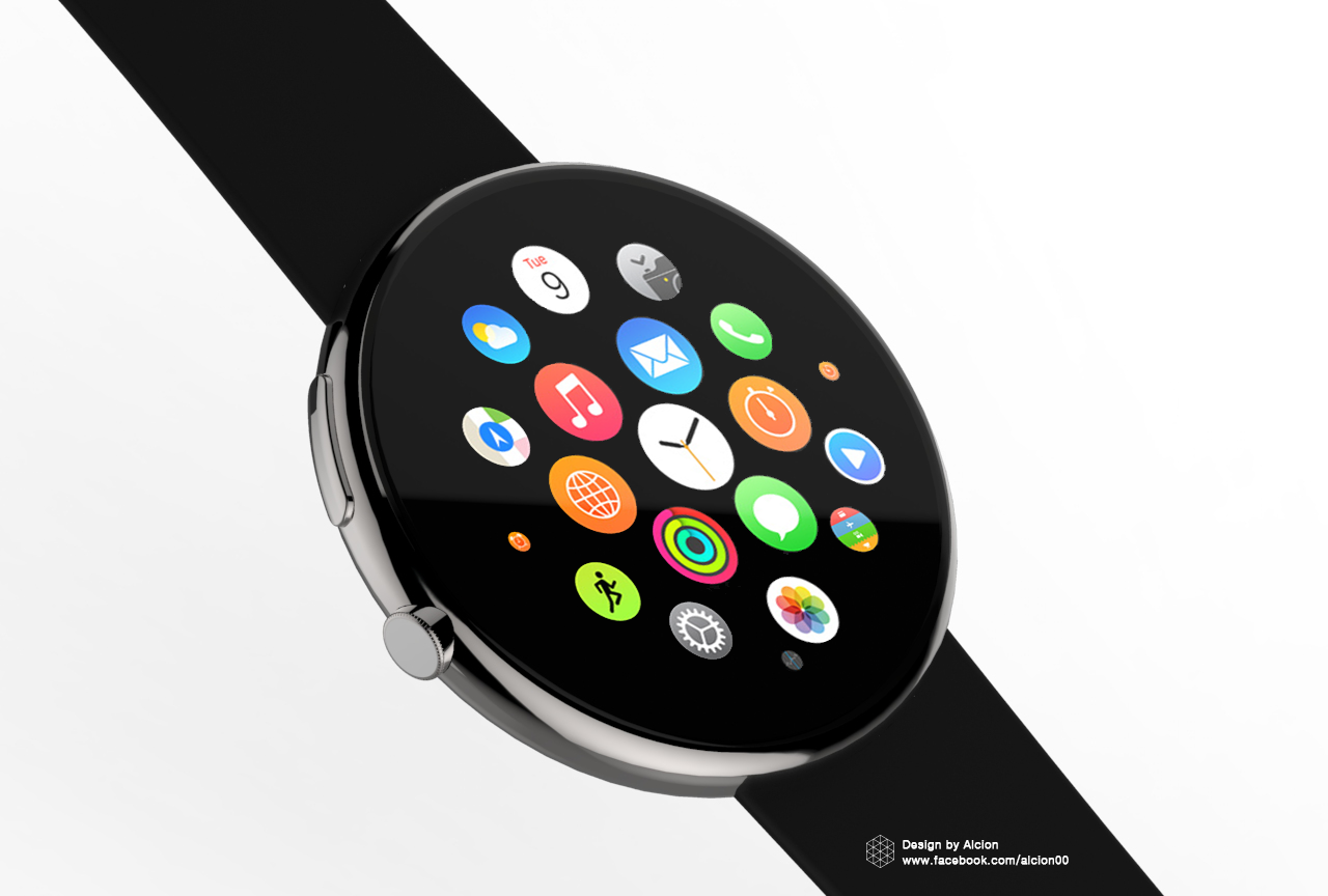 Conceito redondo do Apple Watch