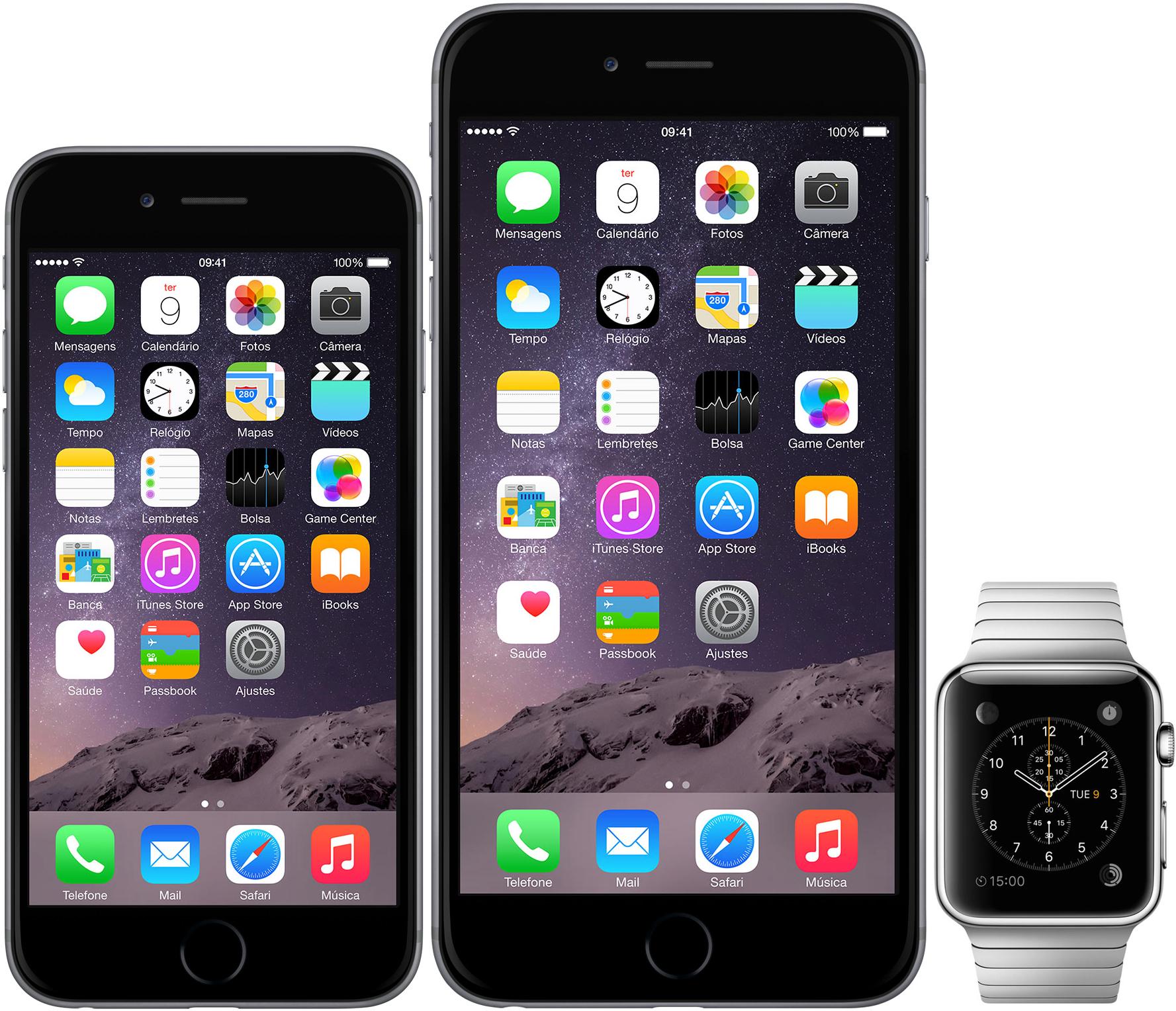 Novos iPhones e Apple Watch