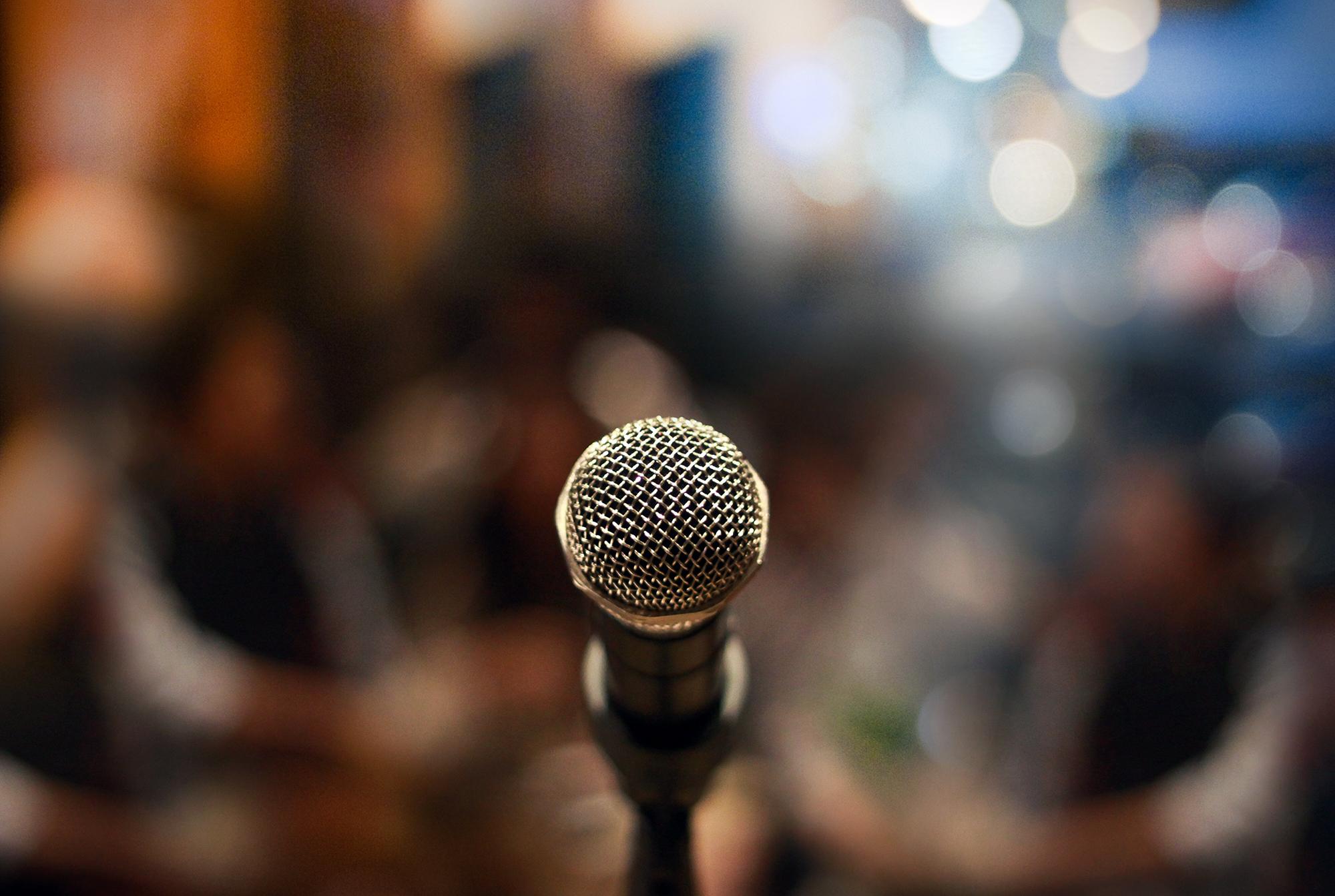 Close de microfone